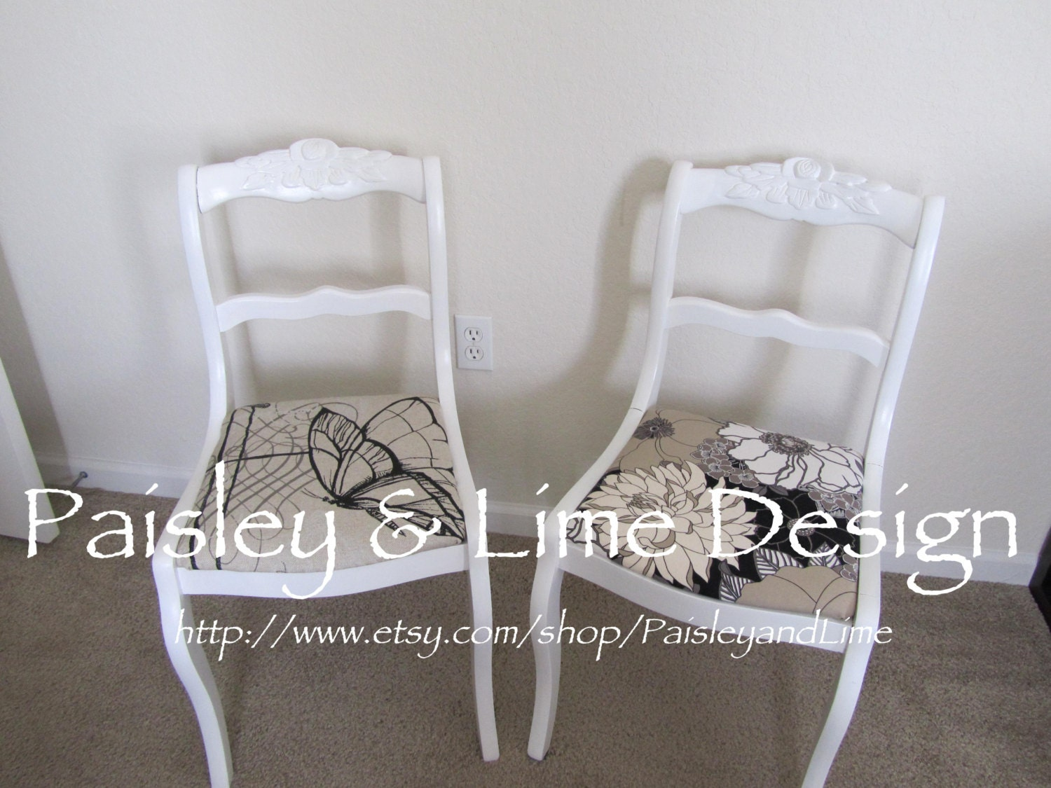 Duncan Phyfe Rose Back Chairs
