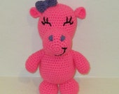 Plush Hippo - Handmade Crochet Animal