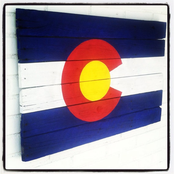2 39 X3 39 Colorado Flag Painting On Reclaimed Wood Wedding