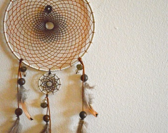 6 in.  Silver and Brown Dreamcatcher