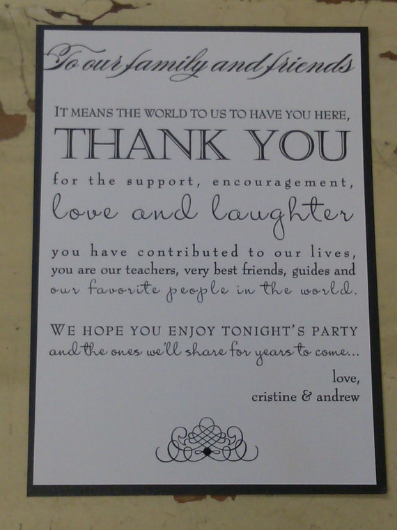 Double Layer Thank You With Mixed Fonts Custom Wording