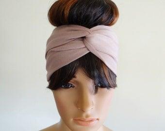 Tan Headband.Head Wrap.Hair Wrap