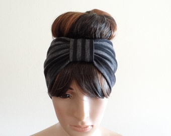 Striped Headband.Striped Head Wrap