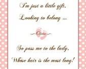 Baby Shower Game - Pass The Gift - Printable - GIRL