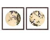 Classic Chinese Painting Print Set With Frame (4)