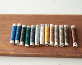 Rare vintage pure silk 10 m threads Matador by Amann. A set of 13 colors.
