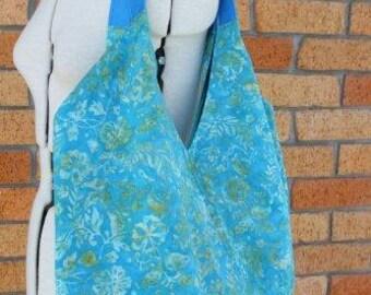 Large everyday sac in blue batik