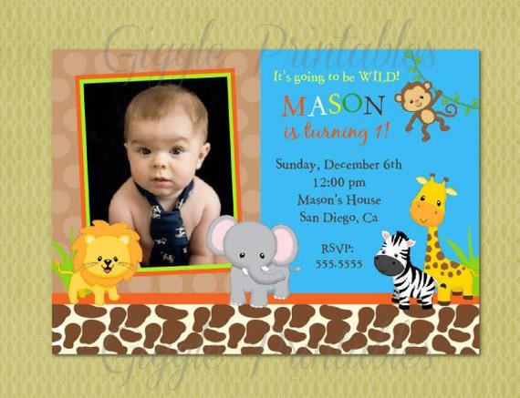 jungle safari birthday invitation by giggleprintables on etsy, Birthday invitations