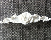 Shabby Cottage Chic Furniture Applique Single Rose Center Swag Barbola Victorian Romantic