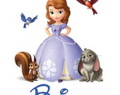 Disney Shirt Sofia the FIrst Personalized Custom Iron on Transfer Decal(iron on transfer, not digital download)