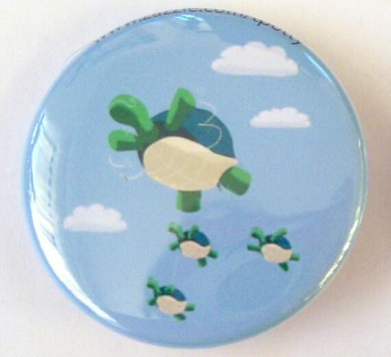 Flying Turtles Pinback Button