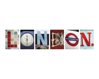 London/England: London Letters Occasion Cards
