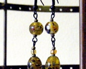 Layne Earring in Olive Speckle