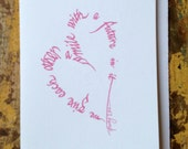Engagement pink calligraphy heart - A smile with a future