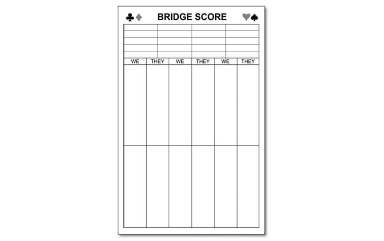 Bowling Score Pad 3.5 X 8.5 50-Sheets Notepad