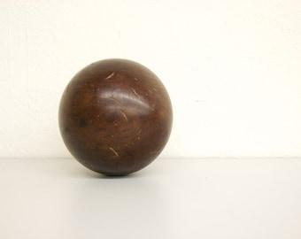Antique, 19th Century  Lignum Vitae Bowling Ball