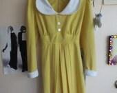 collared yellow mod dress