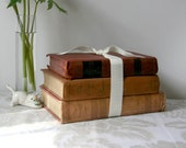 Vintage Books for Home Decor - burgundy brown russet shabby chic farmhouse country cottage rustic - TheHeirloomShoppe