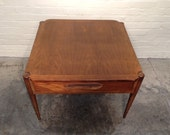 Mid-Century Danish Modern End Table / Lamp Table / Nightstand By Bassett - Mad Men / Eames Era *SHIPPING NOT INCLUDED*