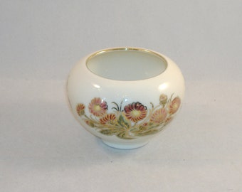 Vintage Zsolnay Hungary HandPainted Vase/Bowl, Trimmed in Gold - Excellent Condition