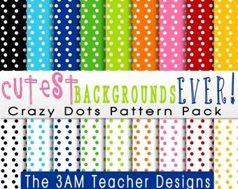Cutest Backgrounds Ever: Crazy Dots Pattern Set