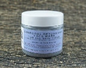 Charcoal Clay Detoxifying Mask for All Skin Types