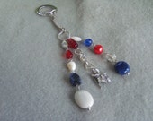 Red/White/Blue Purse Charm