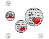 INSTANT DOWNLOAD - Open Your Dictionary - Printable 1 inch round for jewelry, magnet, bottle cap - Jpg File no. A060