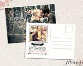 Custom Printable SAVE THE DATE Postcard Invitation