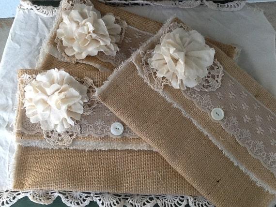 Burlap and  Lace wedding clutch, bridesmaids gift, bridesmaids clutch, bridal clutch