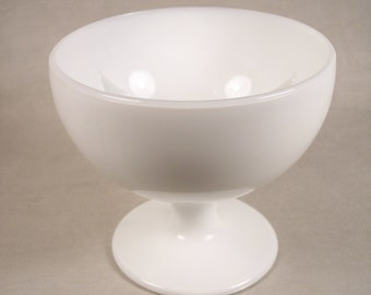 Milk Glass Candle Holder Tiered Bowl Compote Goblet Style