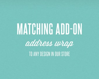 Matching Add-On Address Wrap - DIY Printable Stationery