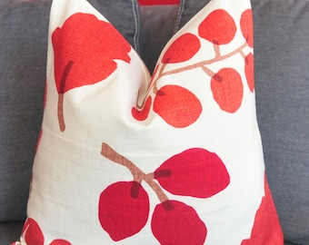 Pillow Cover, Decorative Pillow, Toss Pillow, Sofa Pillow, Throw Pillow, Red Leaves, 18x18 inch, Home Furnishing, Home Decor