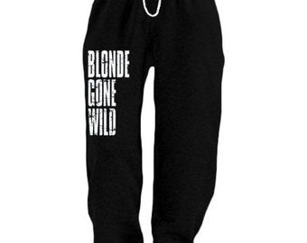 Mens Sweatpants / Blonde gone wild