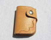 For michel. Handstitched,short wallet,good quality top layer leather ,vegetable tanned ,no chemical pollution