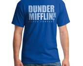 Dunder Mifflin T-shirt from the TV show the Office. Professional screen print.