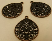 Statement Copper finding pendant 3 for 2.99