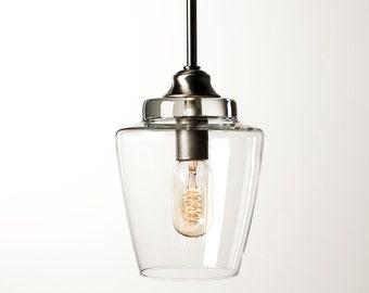 Pendant Light Fixture - Edison Bulb - Small Hurricane