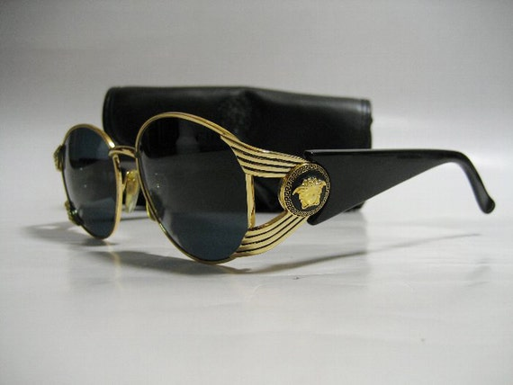 Versace Glasses Frame Repair : Gianni Versace vintage Sunglasses MOD.S64 COL.16L / Black