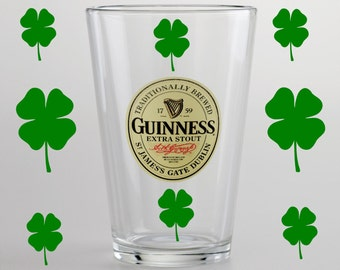 Shamrock pack -St Patricks Day Vinyl Wall Decal-Glass sticker-Car Shamrock Decal-Wall Shamrock Decal Sticker-4 leaf clover Decal