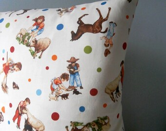Farm Child vintage style Cushion / Pillow cover