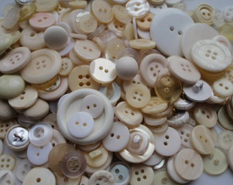 5oz. White Cream and Tan Button Mix 5 to 30mm 350-400 Buttons
