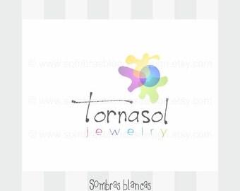 OOAK Premade Logo Design - Tornasol - Perfect for an artist shop or a bohemian style handmade brand