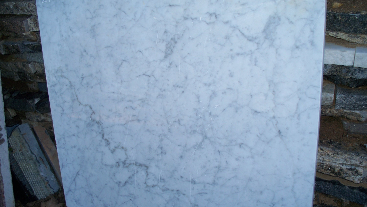 carrara marble remnant natural garden stone arts crafts