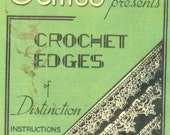 PDF Vintage Knitting and Crochet Pattern Book - Edges of Distinction - over 80 Different Designs (bk 14)