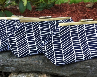 Navy Bridesmaid Clutches