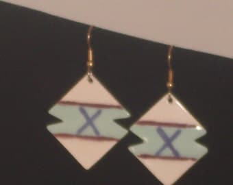 Glazed Bisque Earrings