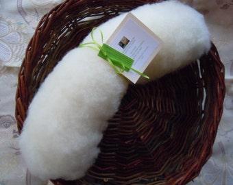100g Whitefaced Woodland Wool Batt - English - Natural - Rare Breed