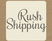 RUSH SHIPPING - Priority Processing and Delivery within the U.S. only