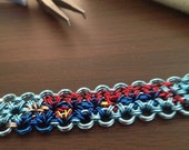 Flying Superman abstract Chainmaille Bracelet